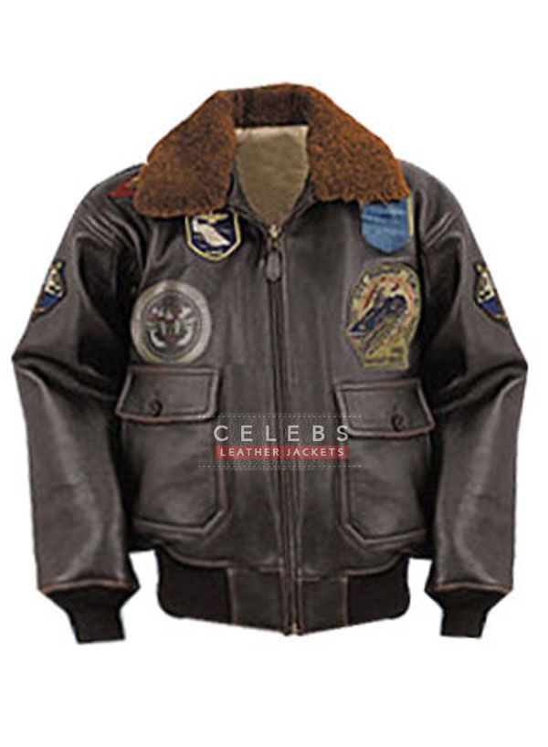 /'TOP GUN/' Mens G1 Bomber Leather Jacket Aviator Pilot Lambskin Tan Soft Jacket