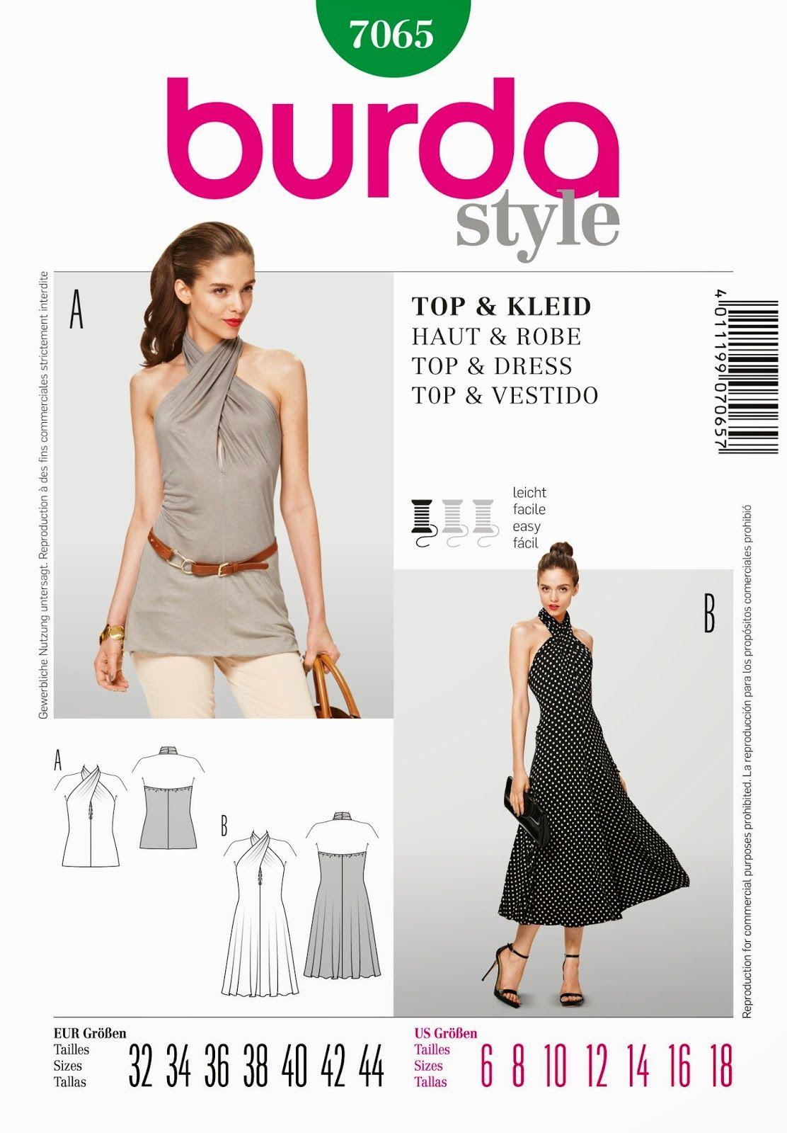 The Winter~Queen: Burda 7065 - lengthen top into straight maxi dress ...