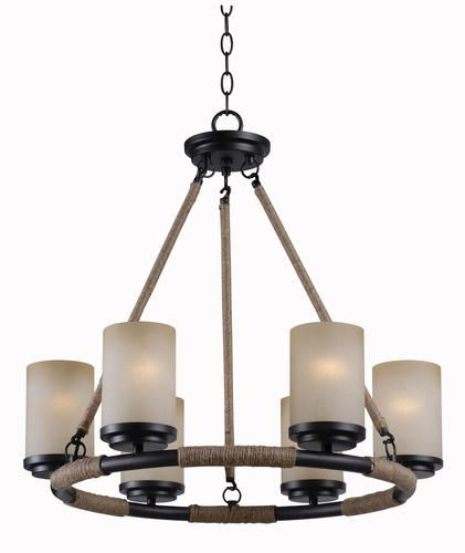 Alford 6 Light Golden Flecked Bronze Chandelier at Menards – Chandeliers Bronze