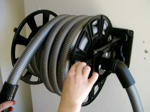 Ducted Vacuum Hose Retracting Hose Reel Youtube Garage
