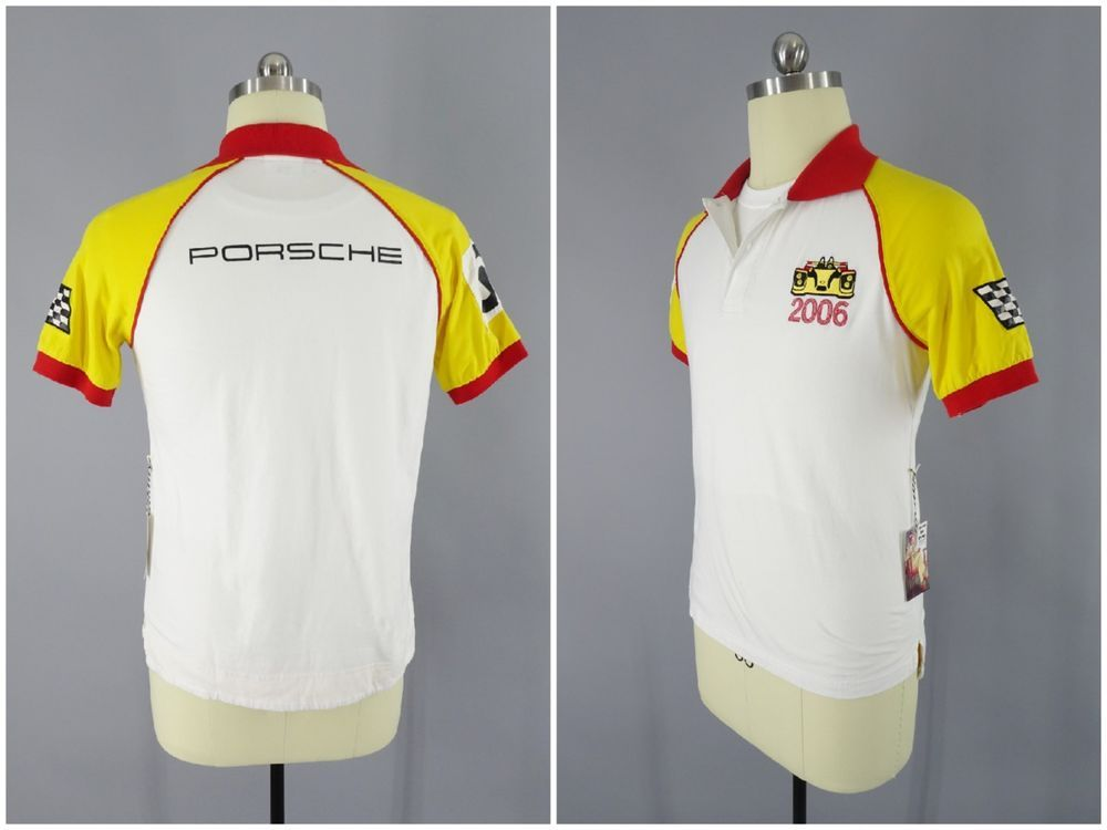 98f693dad 2006 Porsche Design Drivers Selection Polo Shirt with Racing Flag    6 Size  S  PorscheDesign