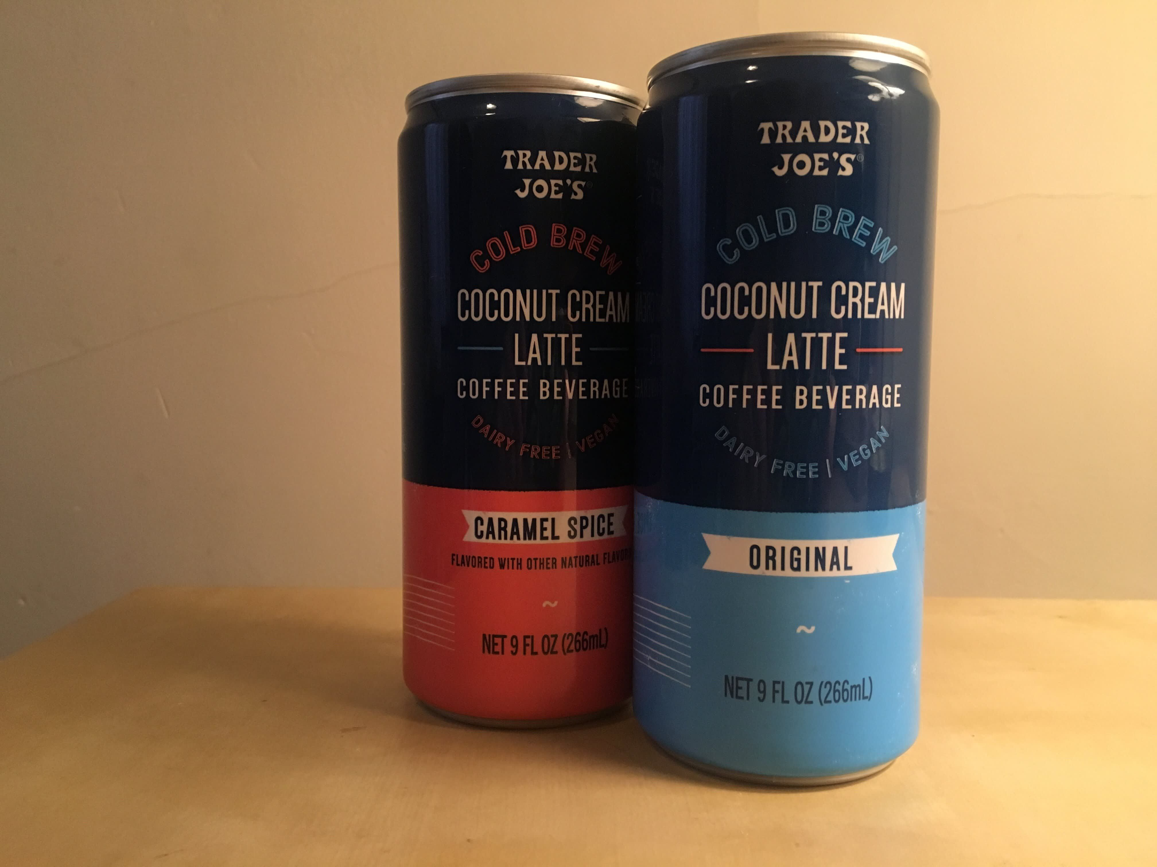 I tried trader joes cold brew coconut cream latte and