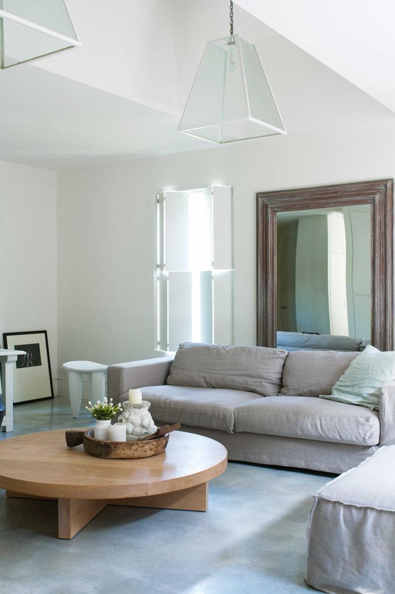 white-living-room-concrete-floors-low-coffee-table-feb12 | Home ...