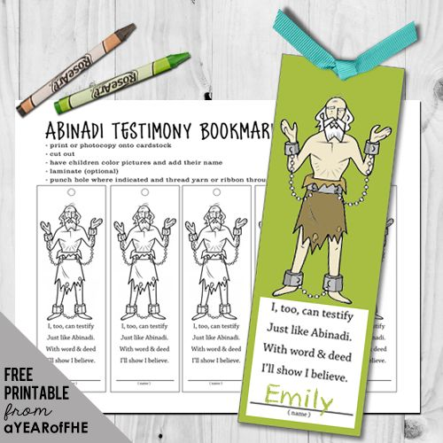 Year 02 Lesson 05 Abinadi Testifies Lds Coloring Pages Book Of