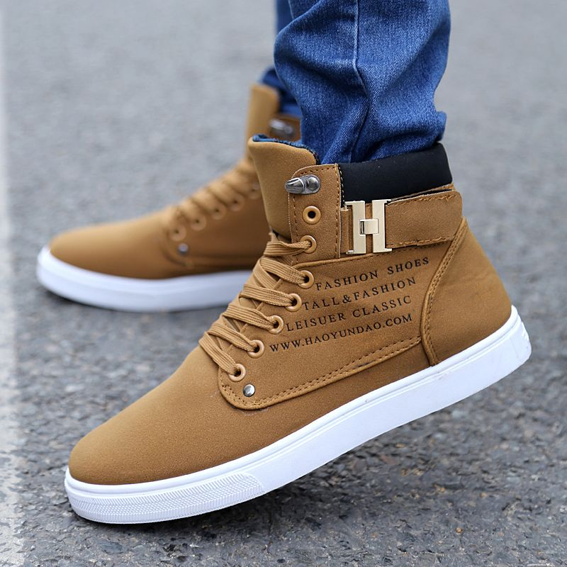 Men Casual Shoes Ankle Boots Breathable Cingulate Hip-hop High Top Leather  Shoes in Clothing, Shoes & Accessories, Men's Shoes, Casual