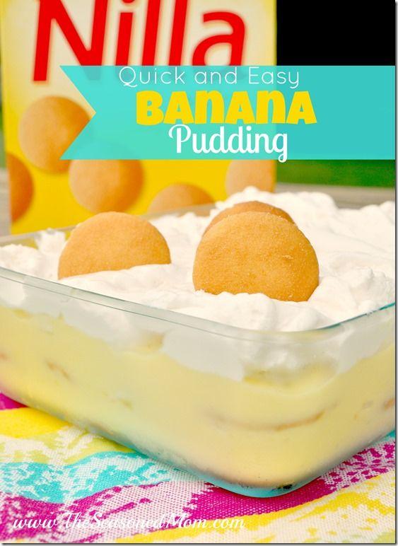 Summer + Quick and Easy Banana Pudding - The Seasoned Mom #bananapudding