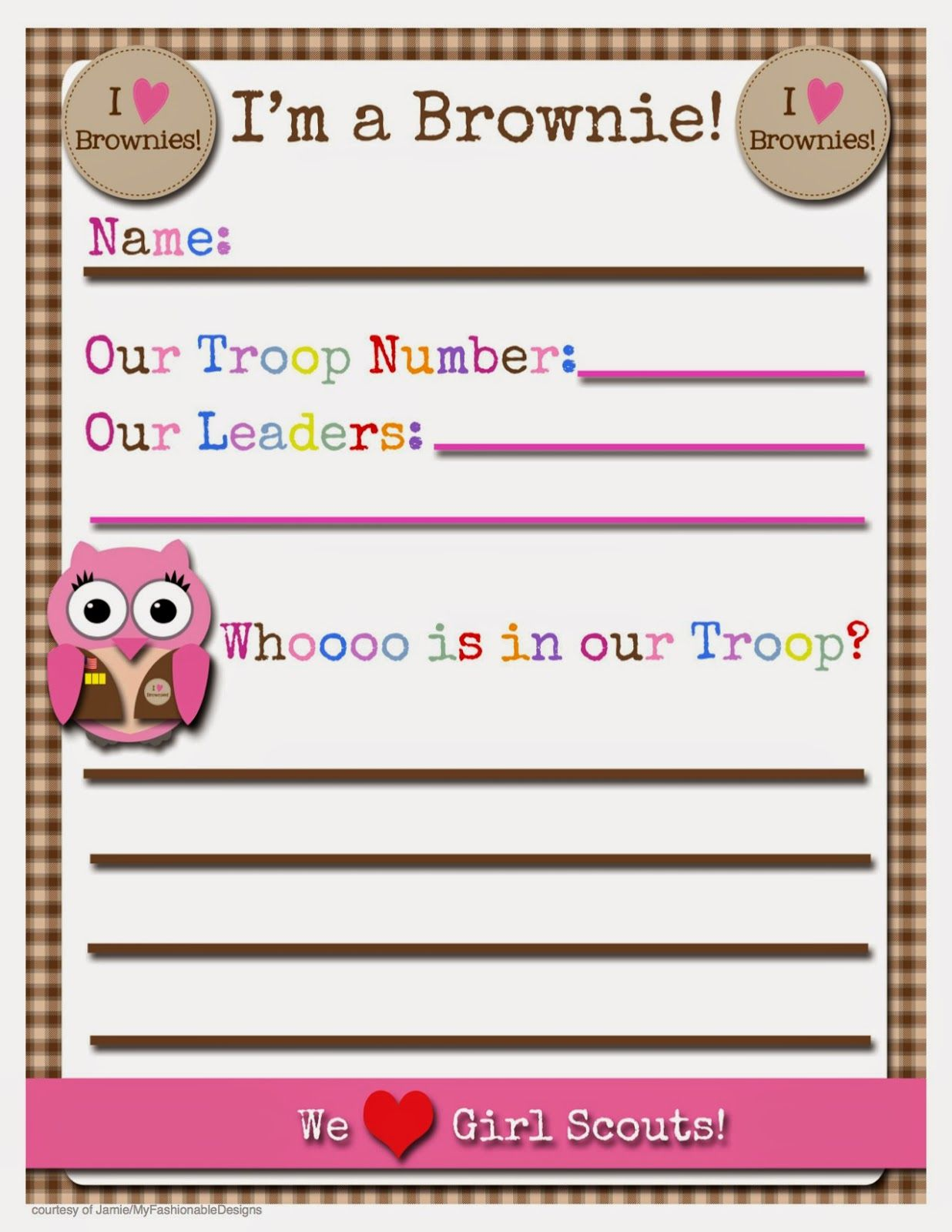 Girl Scout Brownie Newsletter Template Printable With Edita