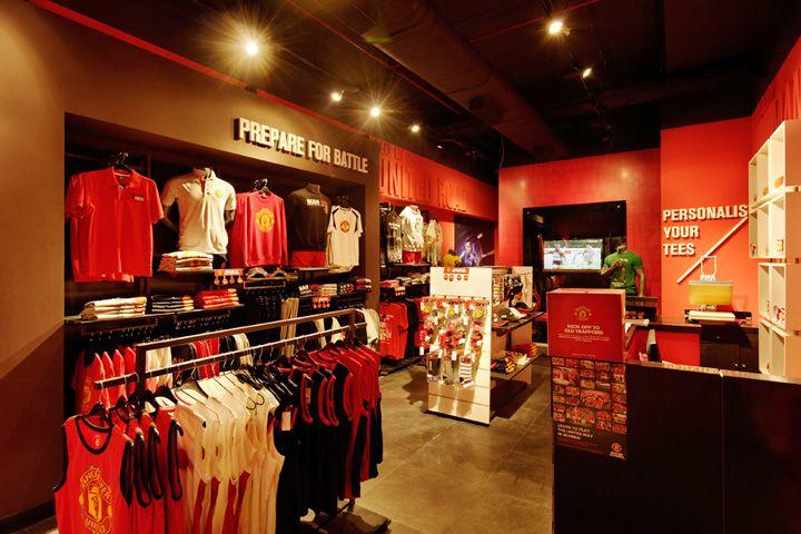 Manchester United Store Mumbai Store Design Store Design Design Retail Design