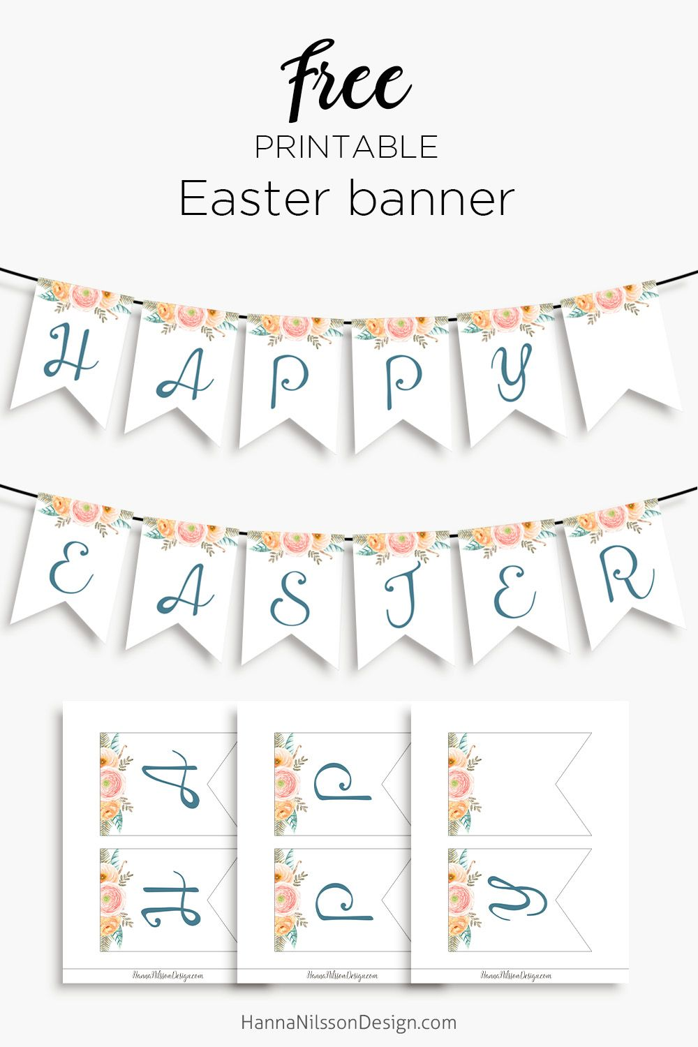 photo about Happy Easter Banner Printable referred to as Pleased Easter- printable banner for your spring decor Absolutely free