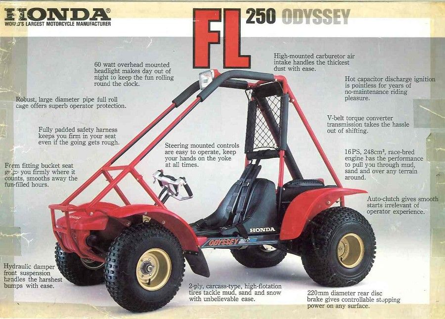 honda odyssey atv 1983 honda fl250 odyssey brochure int. Black Bedroom Furniture Sets. Home Design Ideas