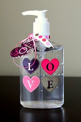 Personalized Hand Sanitizer Bottles Teacher Gifts Valentine