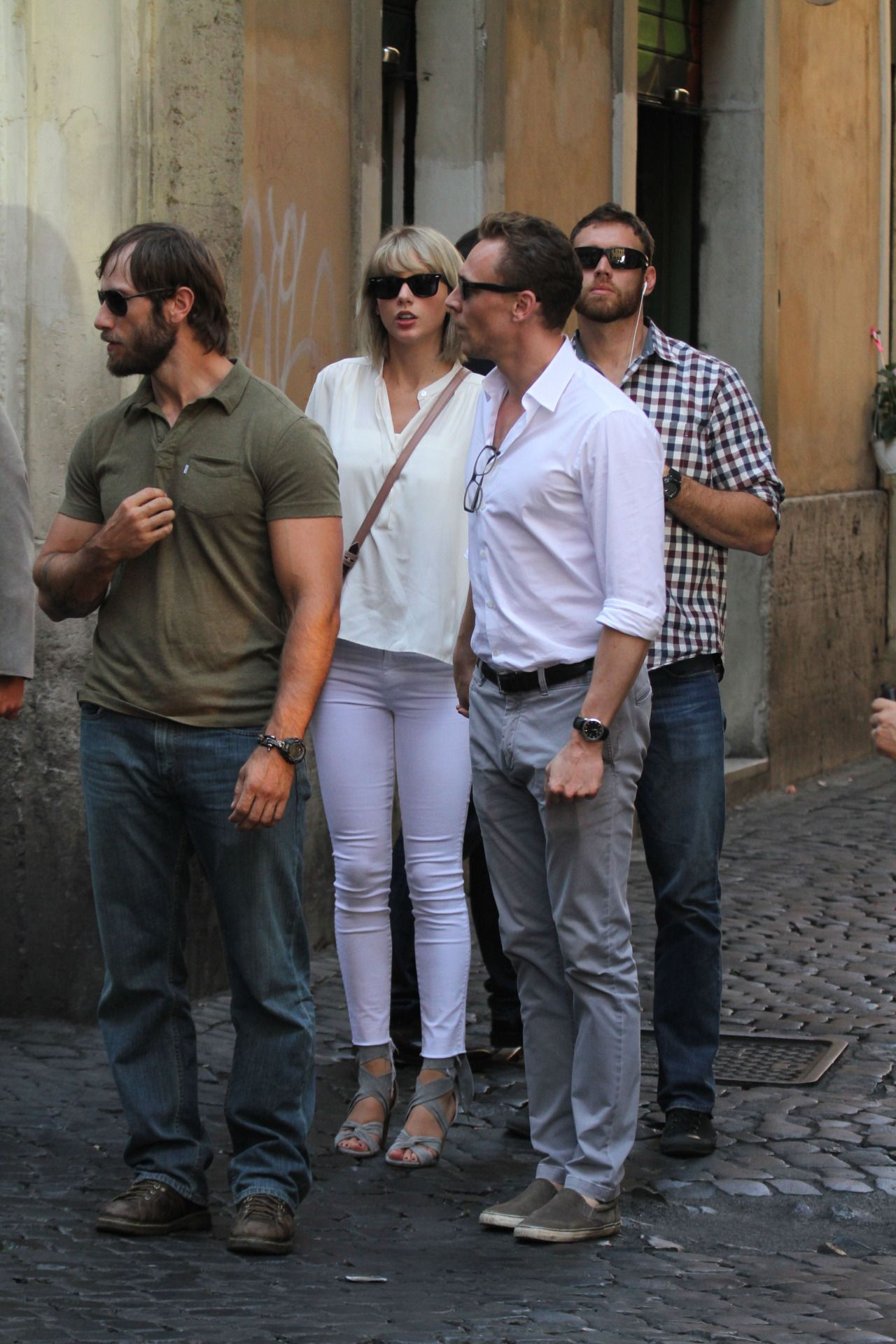 Taylor and Tom having breakfast at Piazza Navona in Rome, Italy 6.28.16