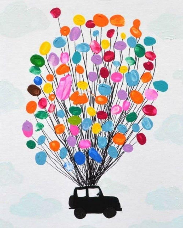 33 Fingerabdruck Bilder, welche Malen zu einem Erlebnis machen #selbstgemachteleinwandkunst