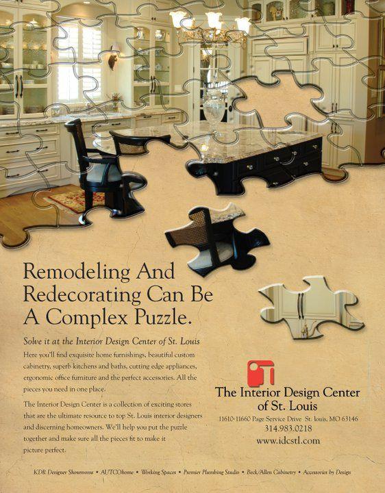 Magazine print for the Interior Design Center of St Louis
