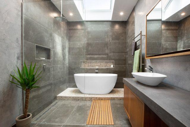Reno Rumble Week 3 Reveals Where Kitchens Bathrooms Shone Small Spa Bathroom Spa Bathroom Decor Spa Bathroom Design