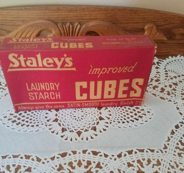 Vintage Unopened Staleys Starch Laundry Cubes Photo Wrap And Laundry