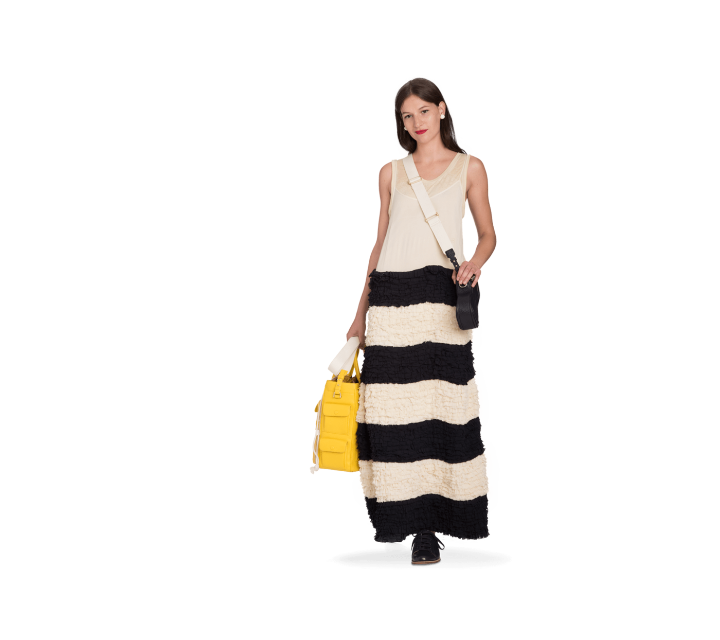 Bill Blass: the first American designer brand, est. 1970.  Piper Long Slipdress $1,188.00 Raw-edge ruffles give a tough dose of fluff to the classic slip dress Slip-simple style, but throws down like a gown Wear it to a party, dancing, or leave it on the beach Colors: Lemon, Navy/Wood Ash 100% Viscose