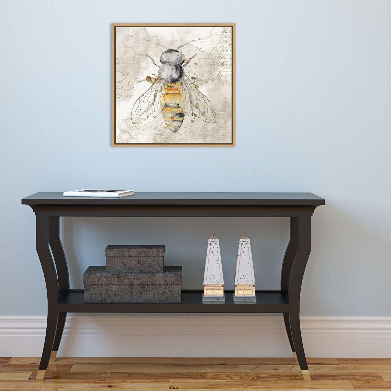 Amanti Art Queen Bee Ii Framed Canvas Print Affiliate Queen Bee Amanti Art In 2020 Square Frames Wall Brown Wall Decor Grey Wall Decor
