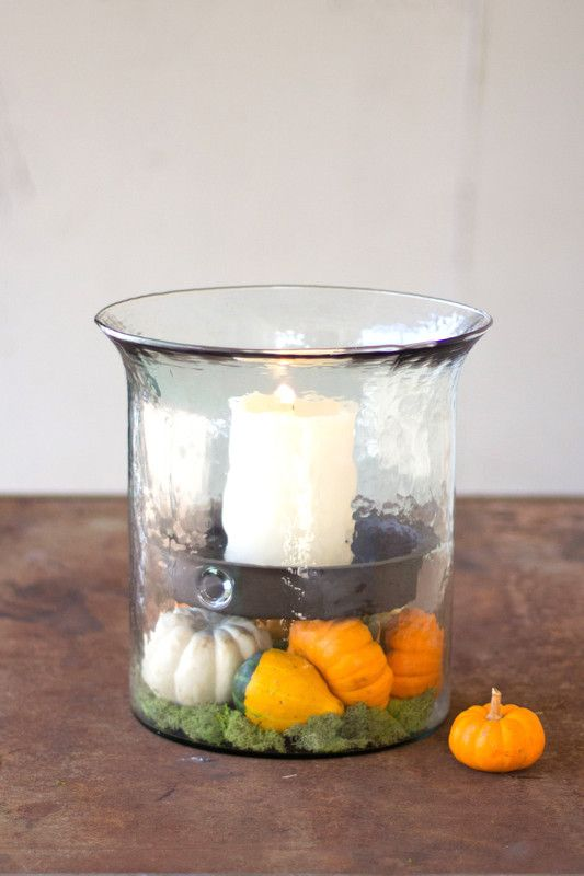 Giant Glass Candle Cylinder With Rustic Insert Cylinder Candles Glass Candle Giant Glass