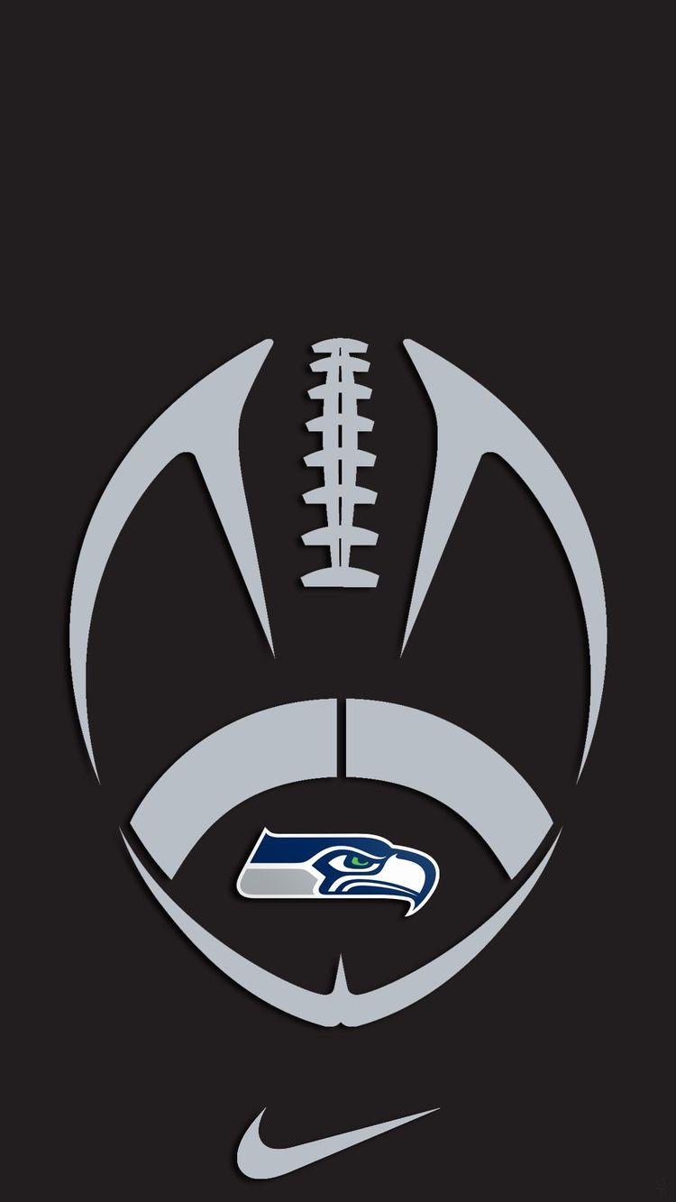 Seattle Seahawks logo on football 🏈