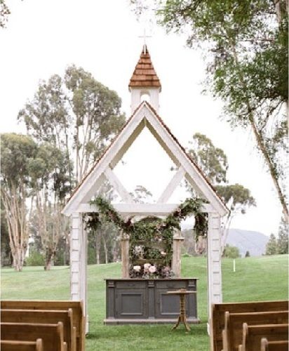 Local Wedding Rentals: Romantic Handcrafted White Chapel In