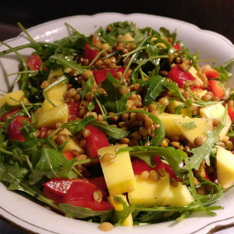 linsensalat mit mango