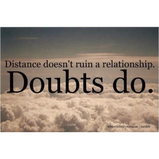 What to do when you have doubts about a relationship