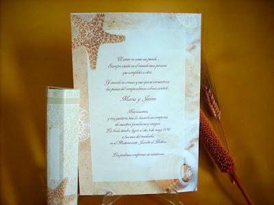Invitaciones de bodas marineras