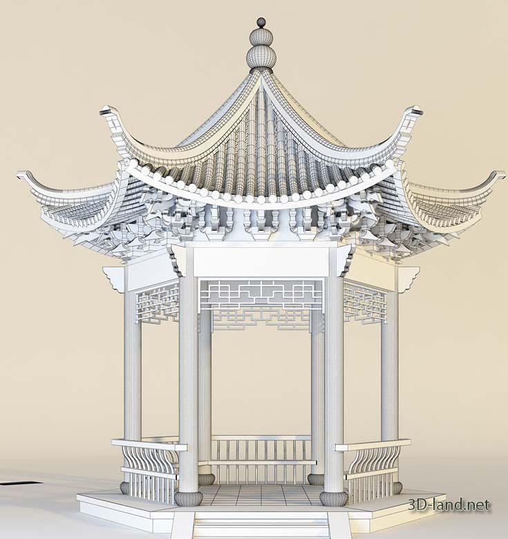 Drawing Of Chinese Gazebo Architectural Elements Asian Architecture Chinese Architecture