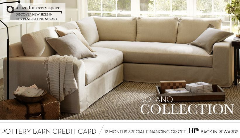 Solano Sectional Collection Pottery Barn Sectional Sectional