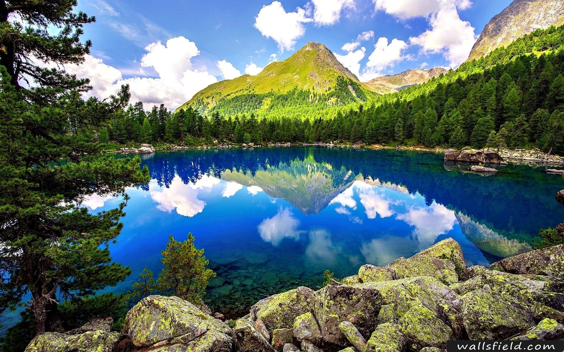Spring Mountain Landscape Wallsfield Com Free Hd Wallpapers Landscape Wallpaper Mountain Landscape Lake Landscape
