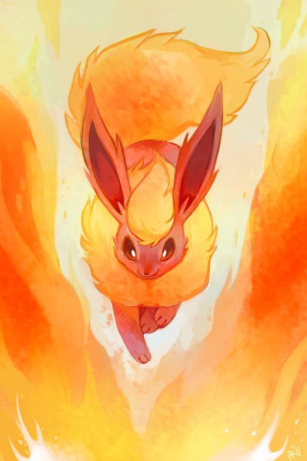 Flareon By Purplekecleon On Deviantart Pokemon Flareon Cute Pokemon Wallpaper Pokemon Eeveelutions