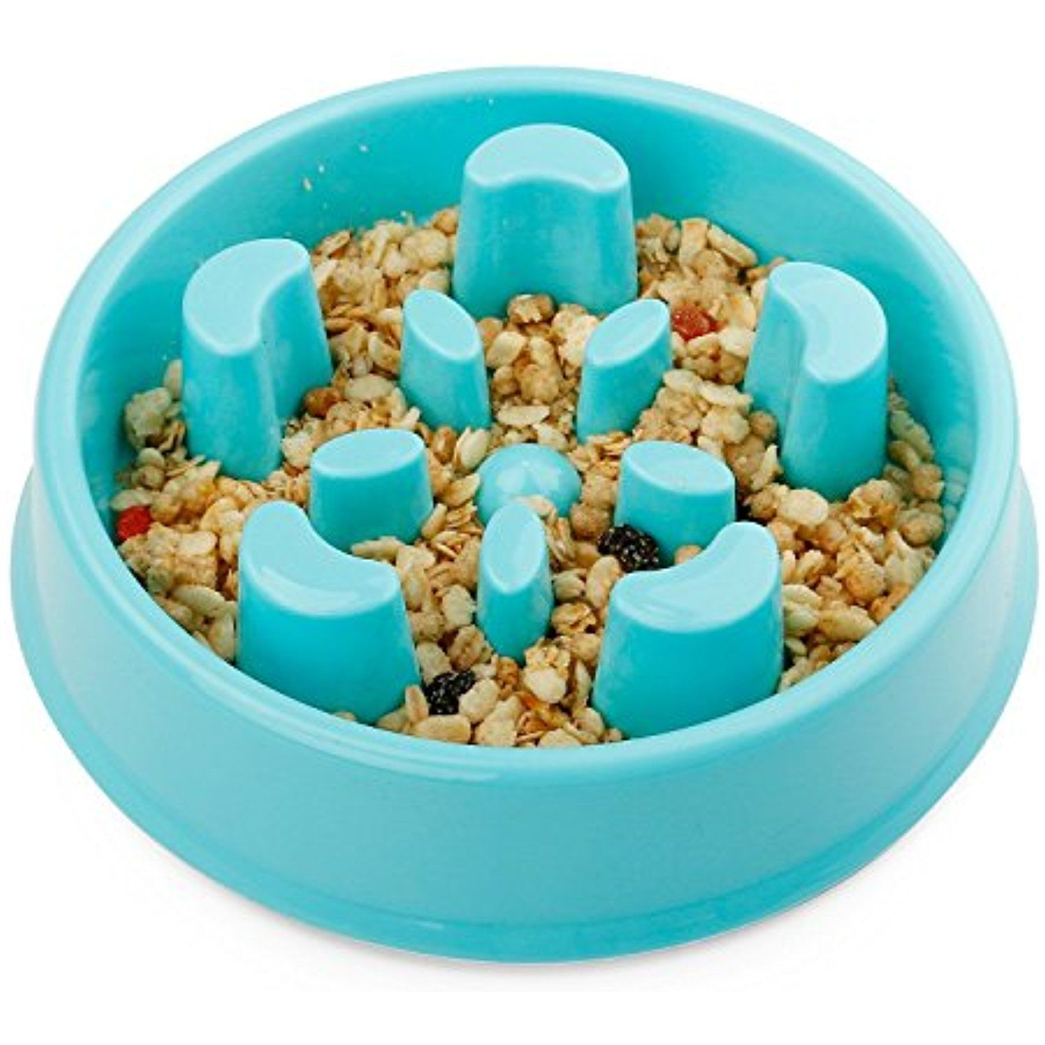 Pet Feeder Slow Feed And Drink Water Bowl Anti Gulping And Choke