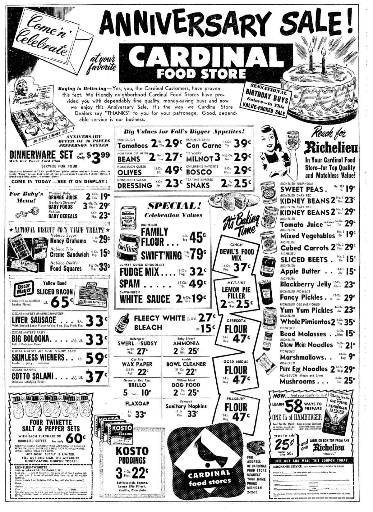 September 8, 1950 - RECORD MEAT SUPPLY, PRICE CUTS FORECAST | Chicago Tribune Archive
