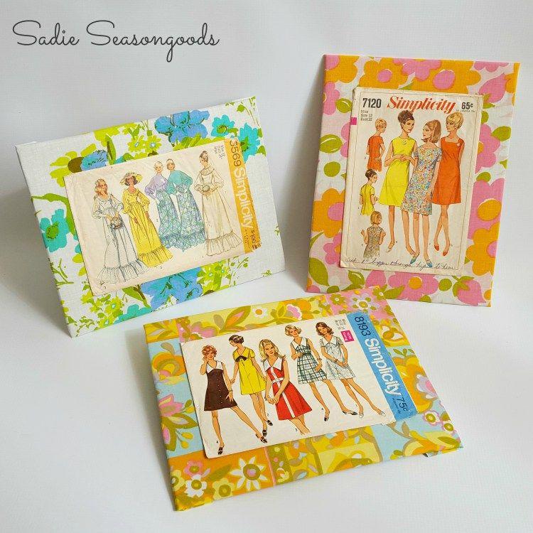 Fashion Wall Art using Repurposed Vintage Sewing Patterns | Fashion ...
