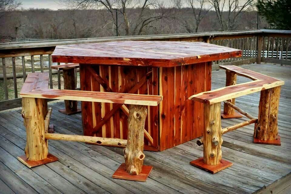 Rustic Outdoor furniture Rustic outdoor furniture, Cool