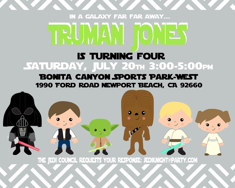 Star Wars Custom Birthday Invite - Star Wars Party Invitation ...