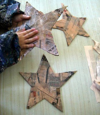 Use the news to make stars for Epiphany...Christ's presence in the world transforms how we see what's happening around us: paper mache stars, paint, paper collage, photos...