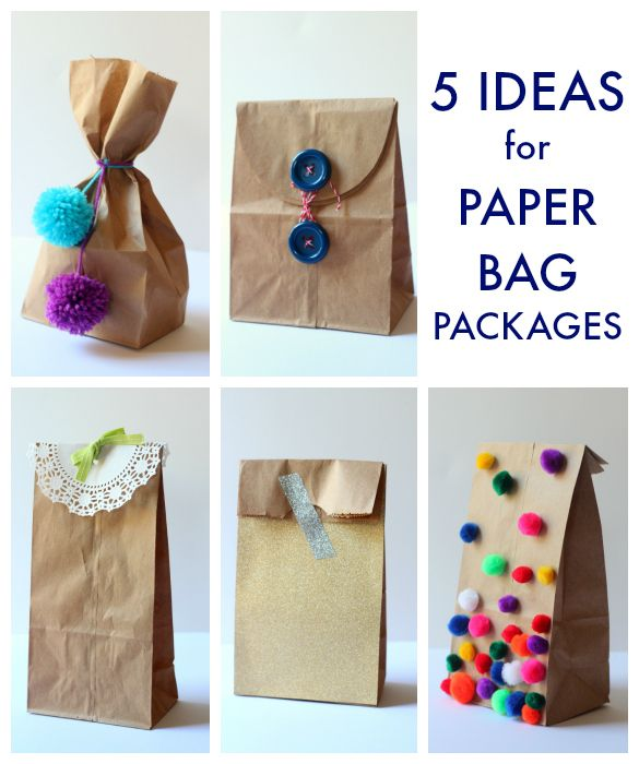 5 Party Favor Packaging Ideas Using Brown Paper Bags Gift Ideas