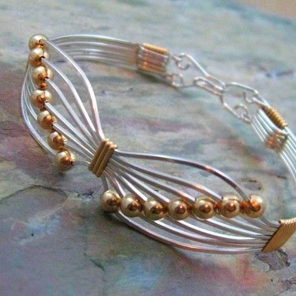 JEWELRY TUTORIAL - Butterfly Wire Wrapped Bracelet, Learn How To ...