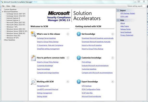 Free #Security Tools – Microsoft Security Compliance Manager