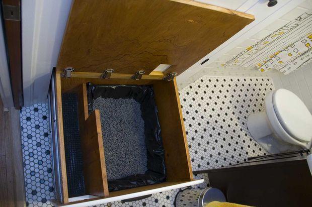 Built In, Self Venting Cat Litter Box