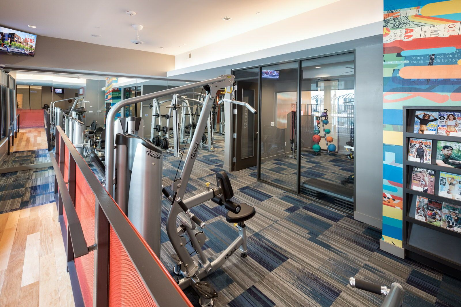 Pick the workout of your choice in the onsite fitness