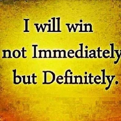 Patience is a virtue. Every struggle have a prize to ...