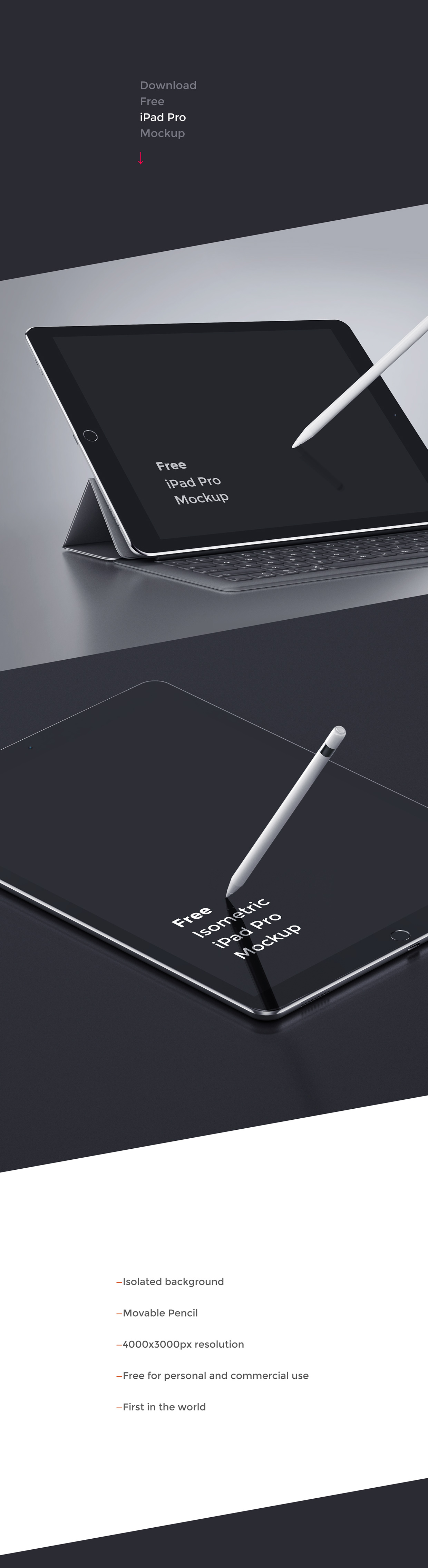 iPad Pro Free Mockup on Behance