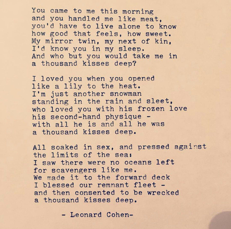 A Thousand Kisses Deep - Leonard Cohen