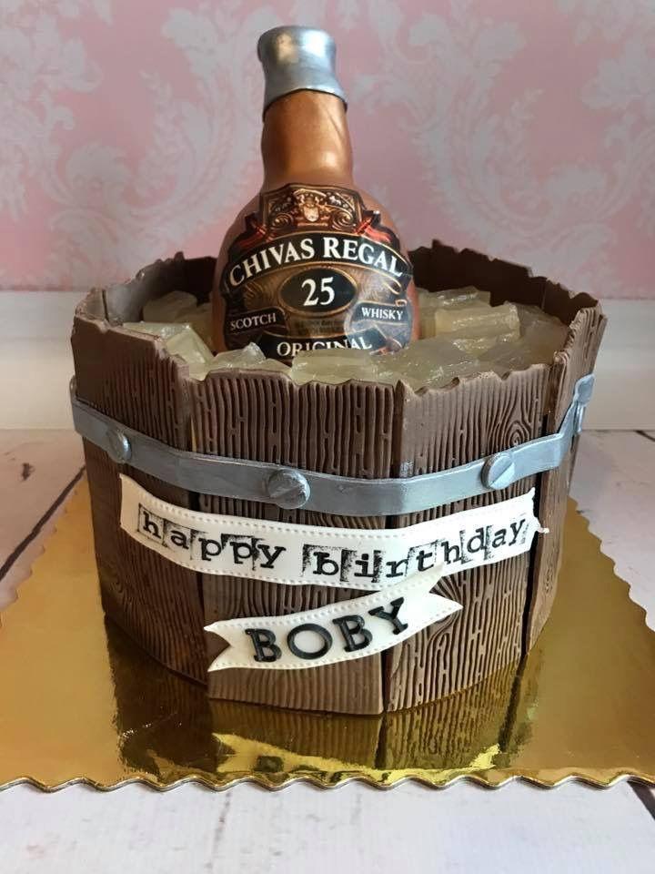 Chivas Regal Whiskey Bottle Cake Original Birthday Cake Idea For