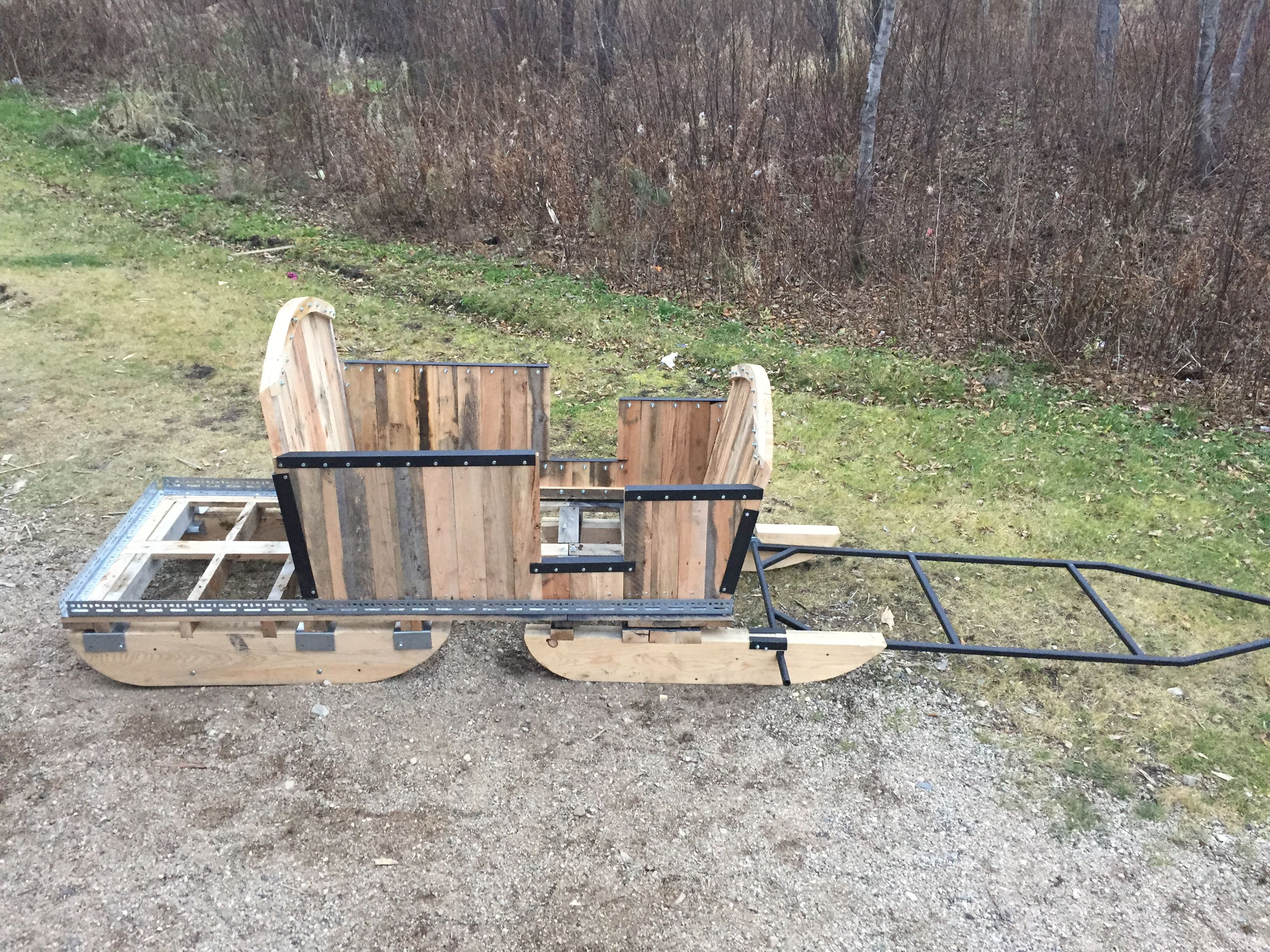 Winter sled with pivot for snow mobile,made of recycle ...