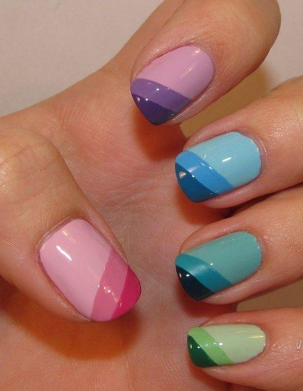 uñas color pastel con rayas | uñas | pinterest | rayas, pastelitos