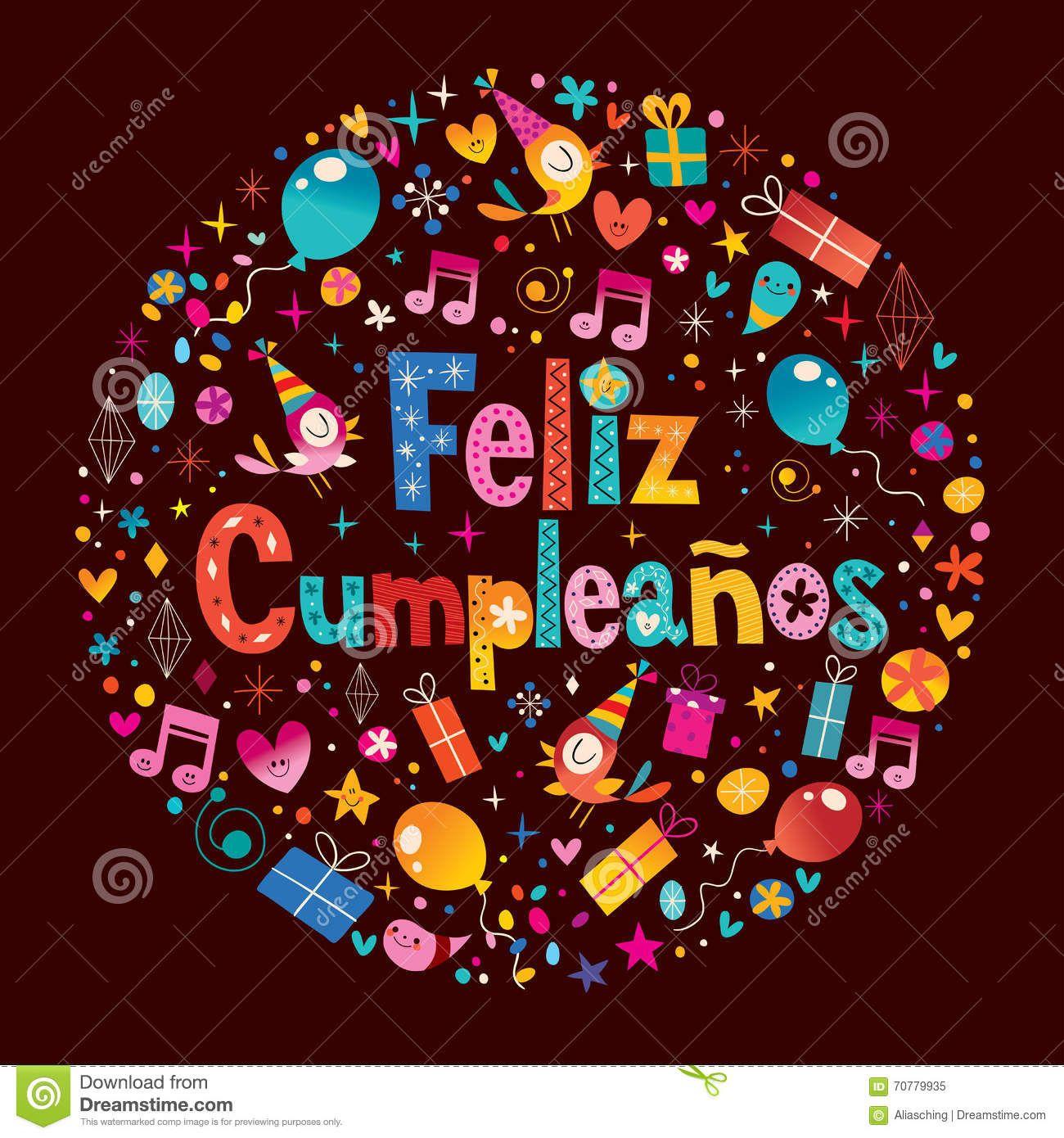 Feliz Cumpleanos Happy Birthday In Spanish Greeting Card – Spanish Birthday Greetings